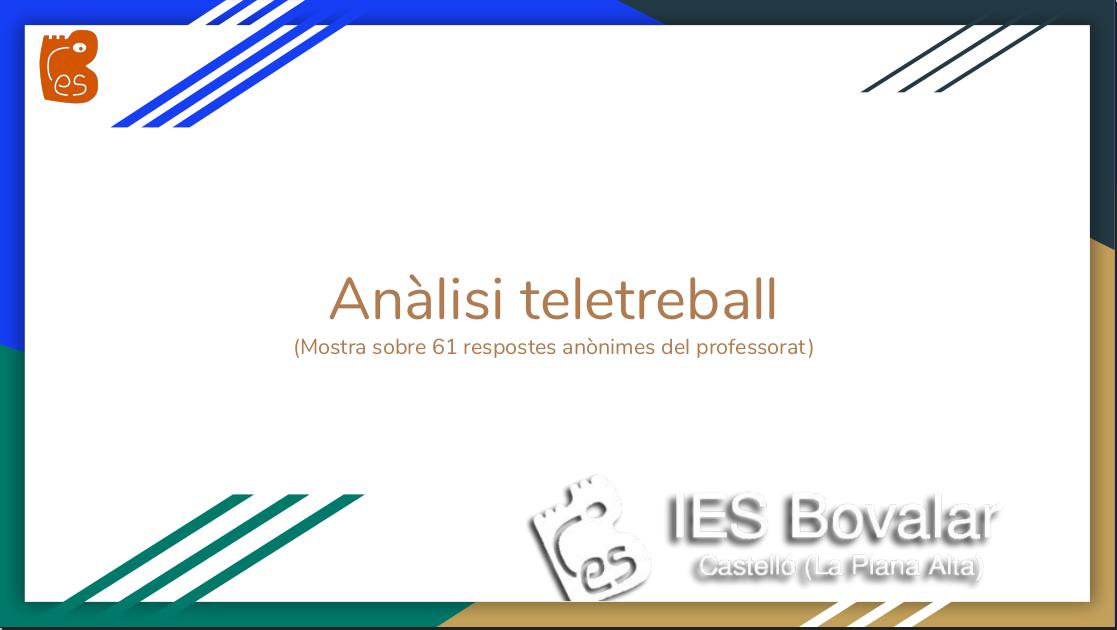 Anàlisi de teletreball a l'IES Bovalar