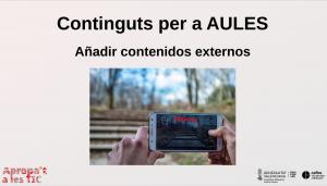 Afegir continguts externs en AULES