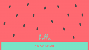 Watermelon Summer Desktop Wallpaper