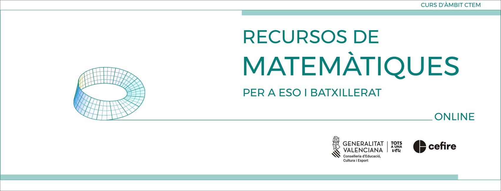 banner RECURSOS DE MATEMÀTIQUES PER A ESO I BATX