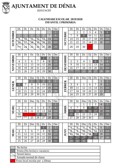 imagen calendari