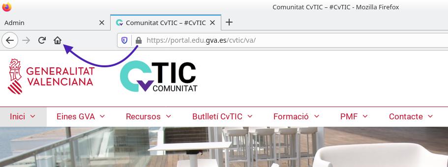 Firefox. Configurant la pàgina d'inici