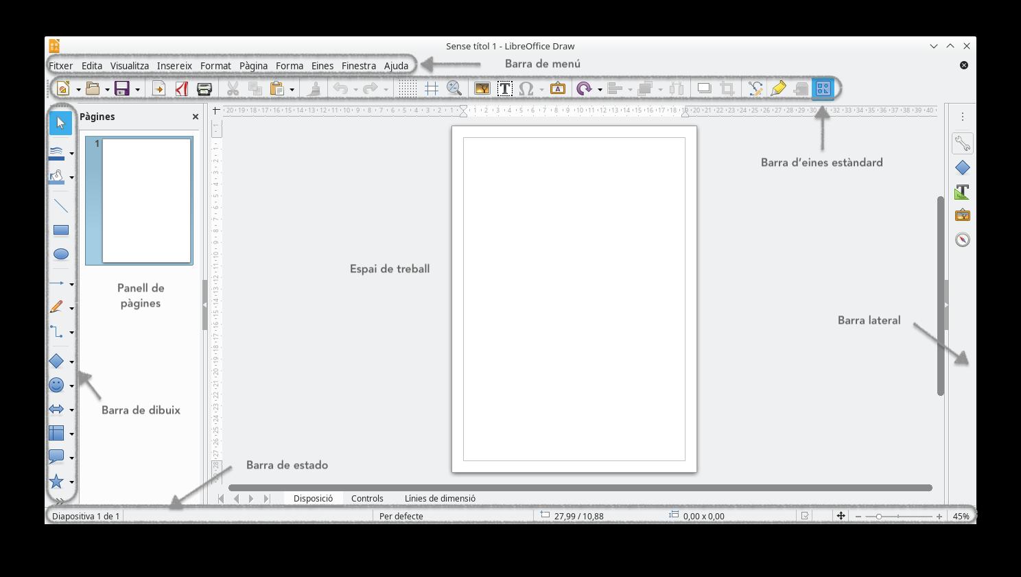 Draw. Interfície