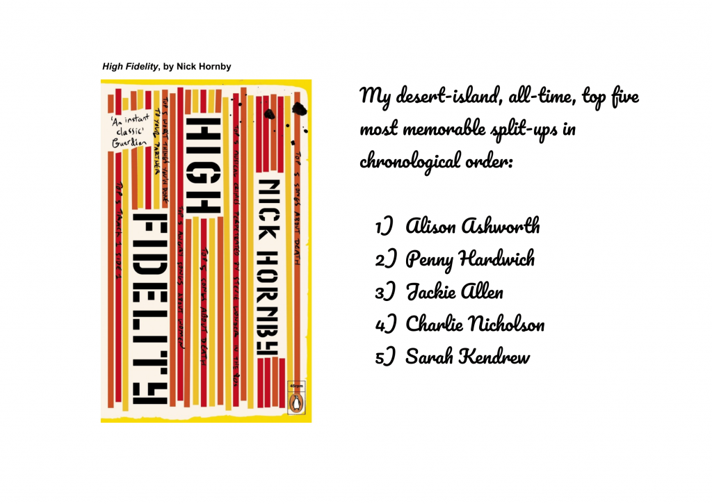 High Fidelity, by Nick Hornby-1