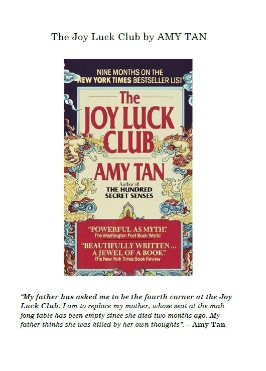 M_Elena_Taberner_Perales The Joy Luck Club by Amy Tan
