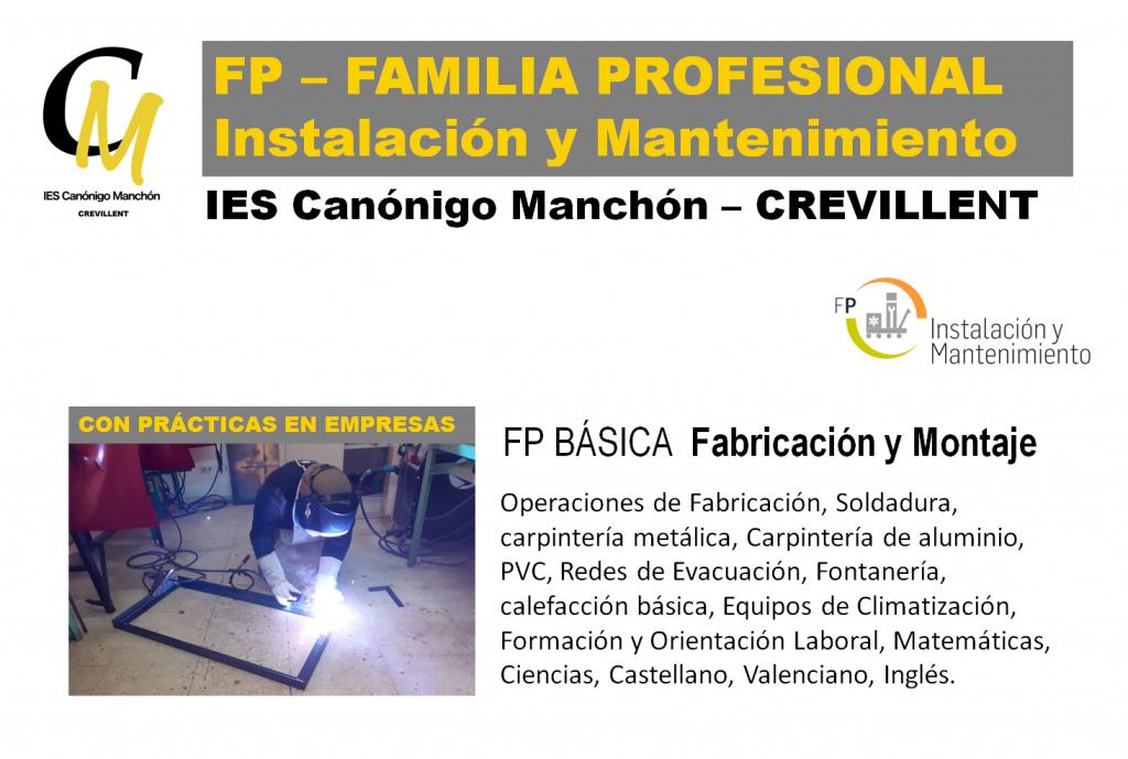 FPB Fabricación y Montaje IES Canónigo Manchón