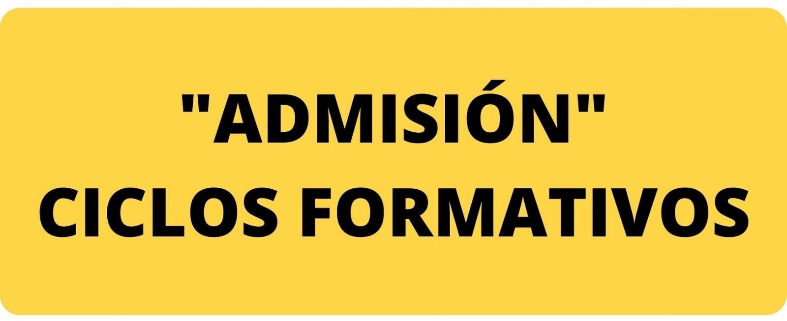 admision ciclos formativos