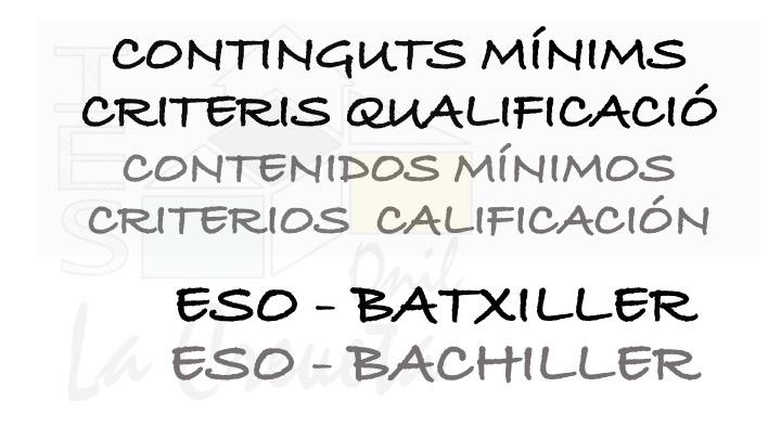 CONTINGUTS MÍNIMS ESO BAT