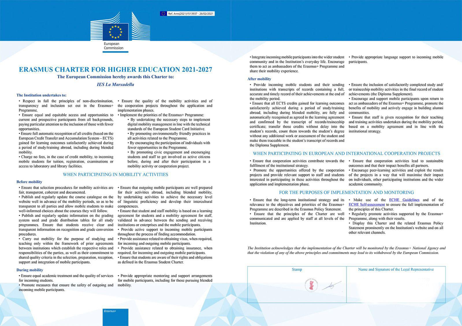 Carta ECHE 2021-2027