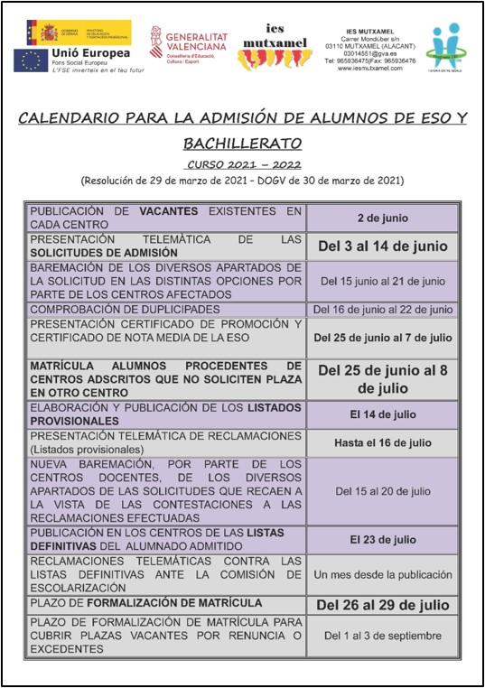 CALENDARIO-ADMISIN-ESO-BACH-IES-MUTXAMEL-2021-2022