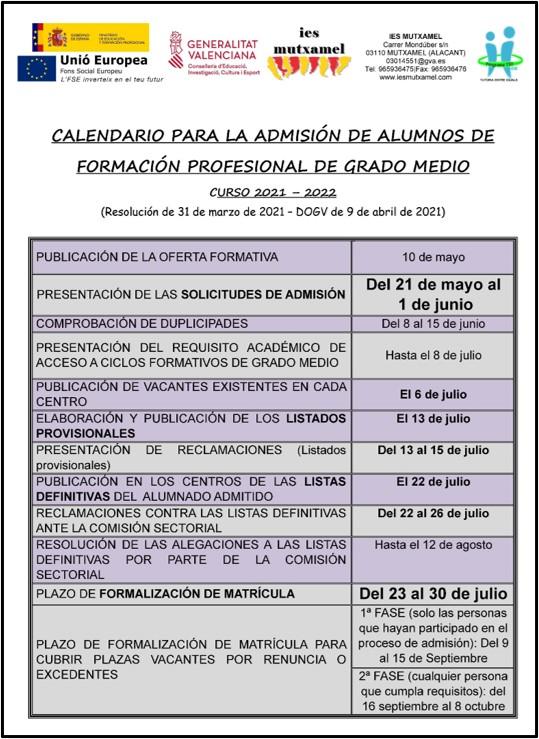 CALENDARIO-ADMISIN-GRADO-MEDIO-IES-MUTXAMEL-2021-2022