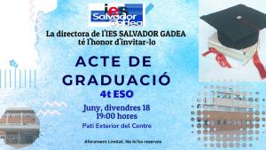 Invitación Graduación 4ESO