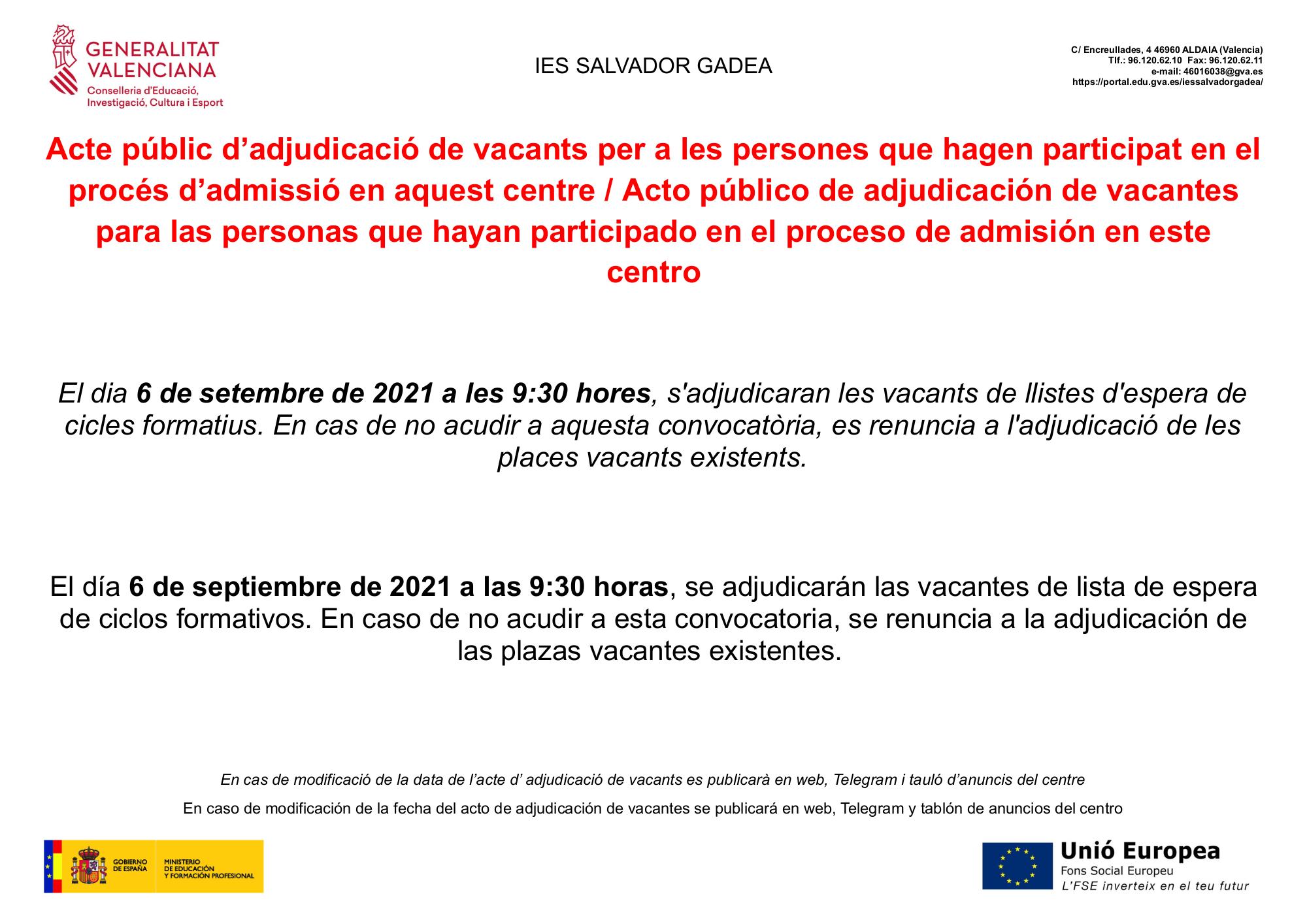 AdjudicacionVacantesListaEsperaCentro2021-2022
