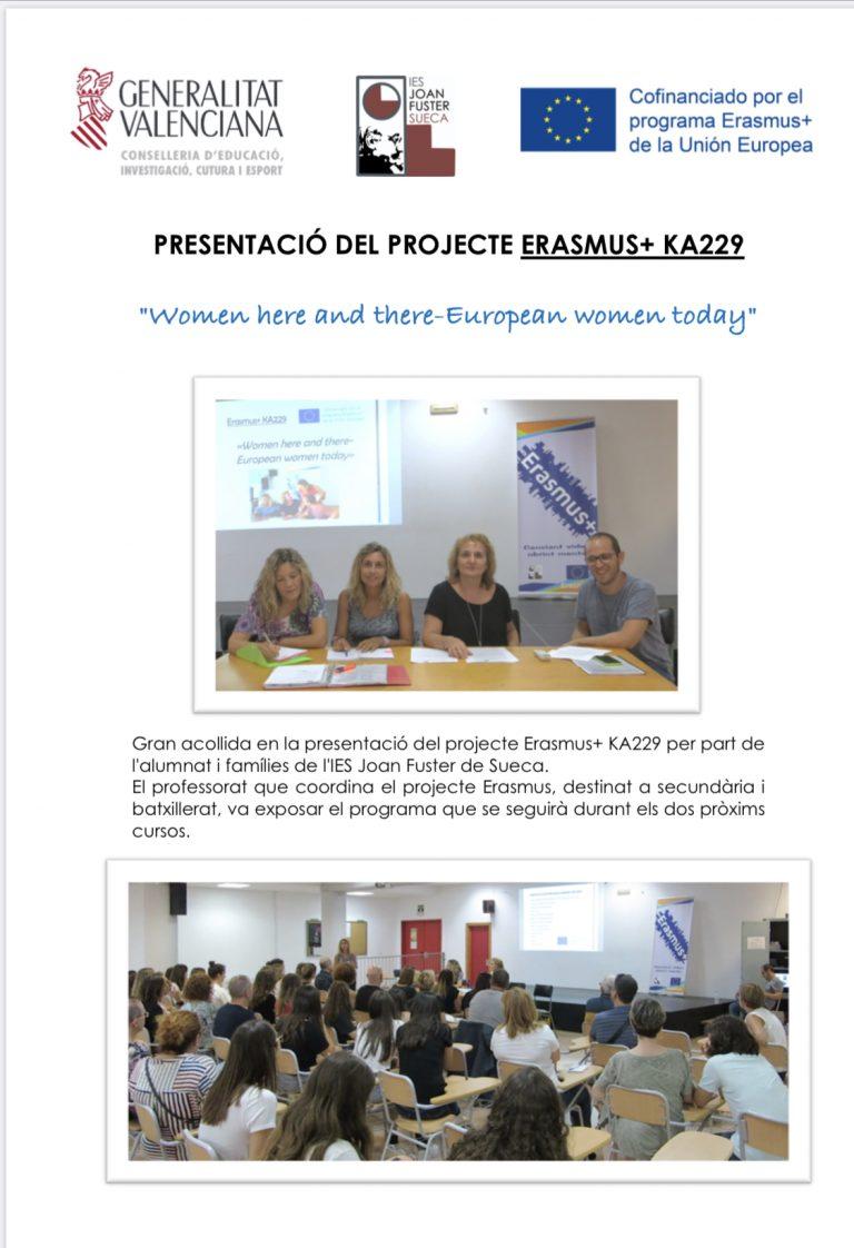Presentació del Projecte Erasmus+ KA229
