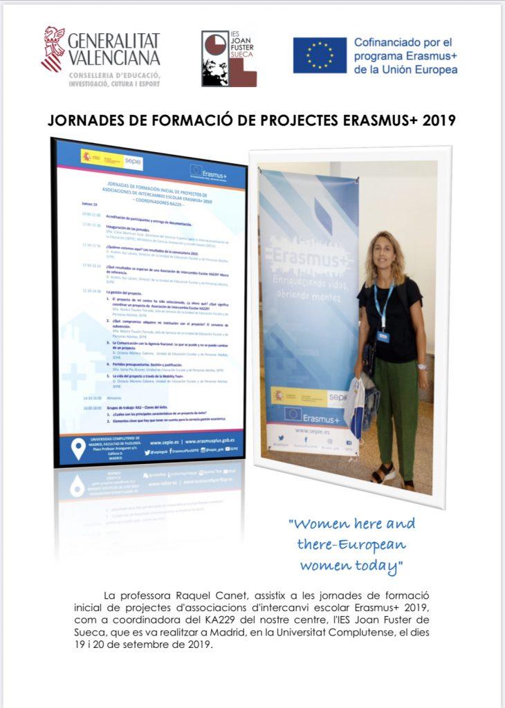 Jornades de formació Erasmus+ 2019. 19 i 20 de setembre de 2019