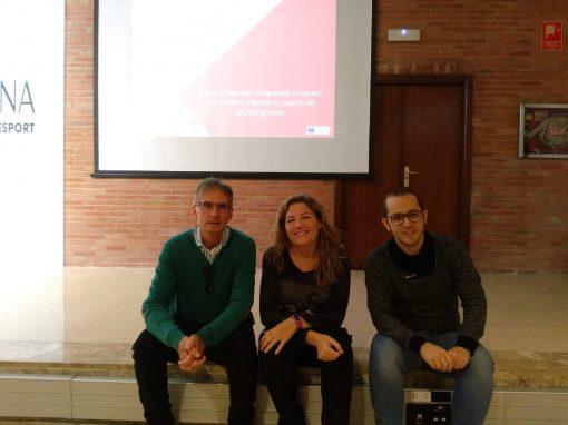 Professorat de l'IES Joan Fuster participant en la Jornada de Difusió Erasmus +. València 9 de novembre de 2018