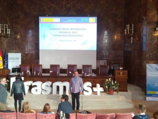 Professorat de l'IES Joan Fuster ha participat en les jornades de Difusió Erasmus+ a Madrid, els dies 3 i 4 de desembre de 2018