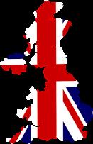 mapa Gran Bretanya