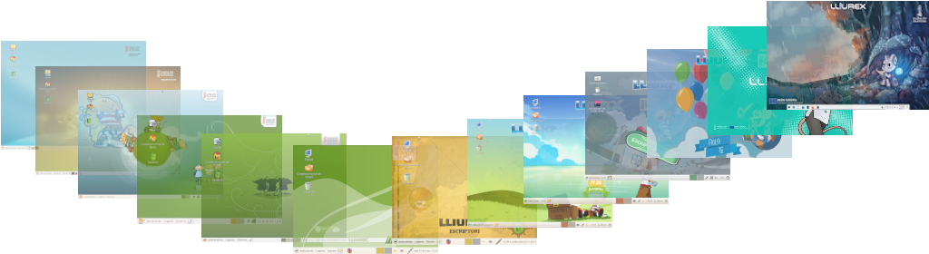 Evolució versions LliureX