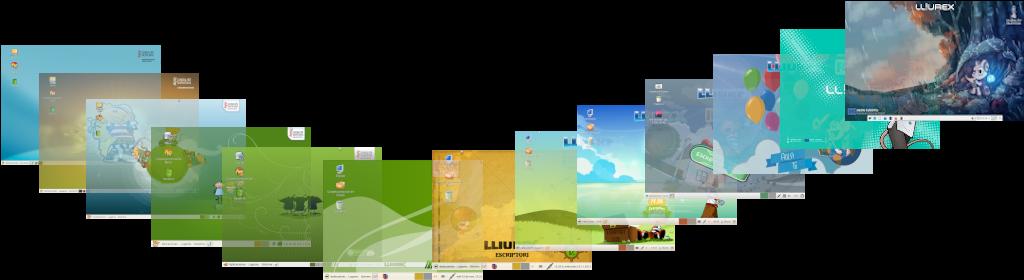 Evolución versiones LliureX