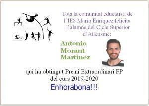 Premi Extraordinari Atletisme Antonio Morant Martínez