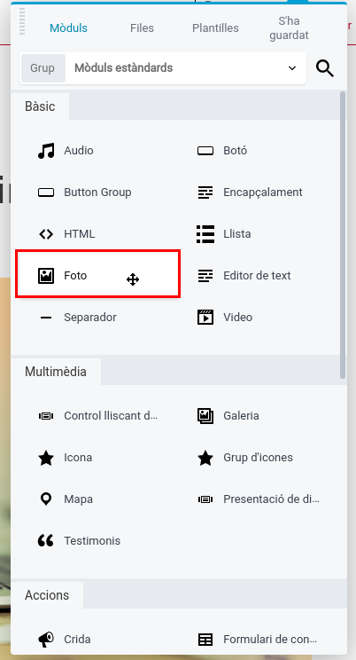 Editor visual mòdul foto