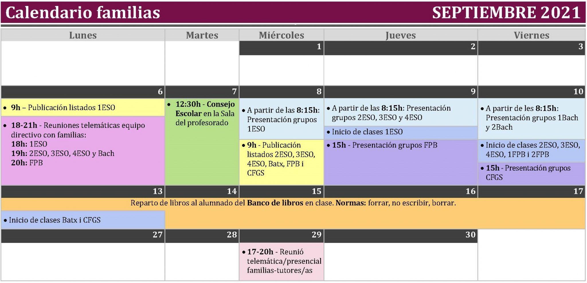 calendario familias septiembre 21-22 - definitivo